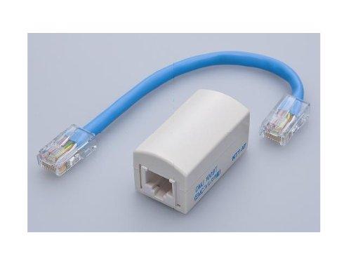 八光電機製作所 8極8芯(1,2,3,6番ピン) EMCノイズフィルタ内蔵(LANケーブル等) 中継コネクタ DMJ-100BT