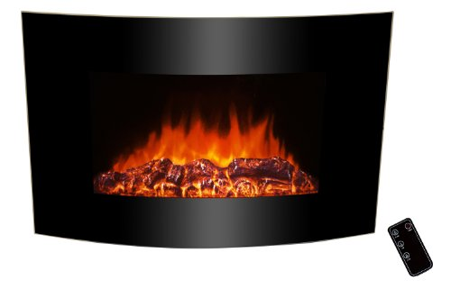 36 inch Wall Mount Modern Space Heater Electric Fireplace Tempered Glass W/Backlight AX-520ALB photo B00A0XN4MS.jpg