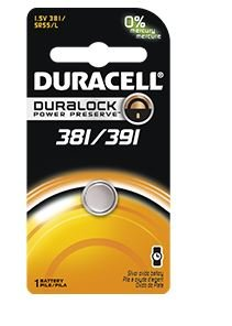 Duracell 381 391 1 5V Watch Electronic Battery 1 CountB00006JPH2 : image