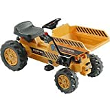 Kalee Pedal Tractor with Dump Bucket Riding Toy - Yellow
