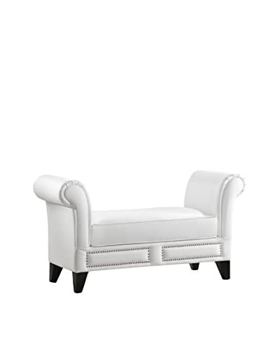 Baxton Studio Marsha Scroll Arm Bench