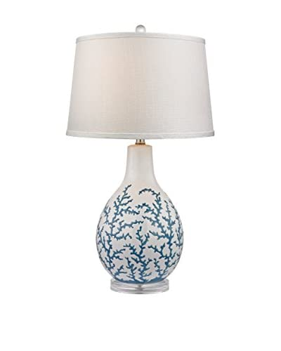 Artistic Lighting Blue Coral Ceramic Table Lamp
