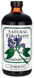 Natural Sources Elderberry Concentrate, 16 Fluid Ounce
