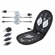 Belkin F3X1724 7-In-1 Retractable Cable Travel Pack