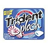 Trident Sugar Free Chewing Gums Splash Peppermint Swirl - 9 Sticks, 10 Pack