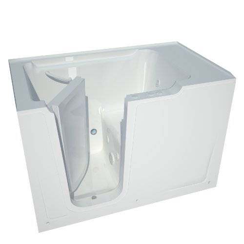 Meditub MT3660LWH Bariatric 36 by 60 by 40-Inch Hydrotherapy Walk In Bathtub Spa Left Side Door, White