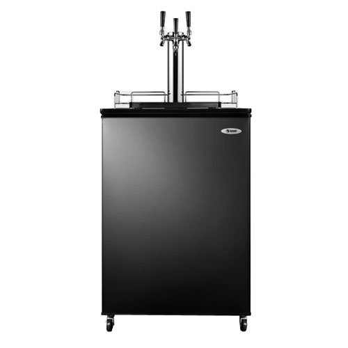 Commercial Triple Tap Beer Dispenser Kegerator In Black Sbc4907Triple By Summit front-14800
