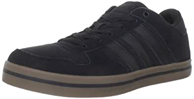 adidas Men's Skneo Lite LO Lace-Up Fashion Sneaker,Black/Gum/Black,14 M US
