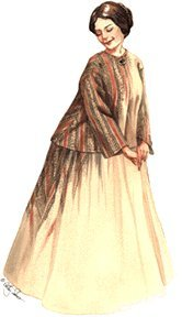 1850's - 1870's Sacque and Petticoat