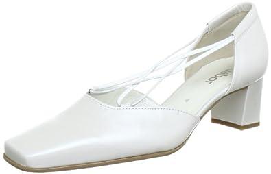 Gabor Shoes 4548160, Damen Pumps, Weiß (off-white+Absatz), EU 42 (UK 8) (US 10.5)