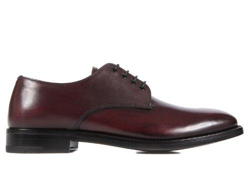 Prada scarpe stringate classiche uomo in pelle nuove derby bordeaux EU 39 2EA013 00A F0043