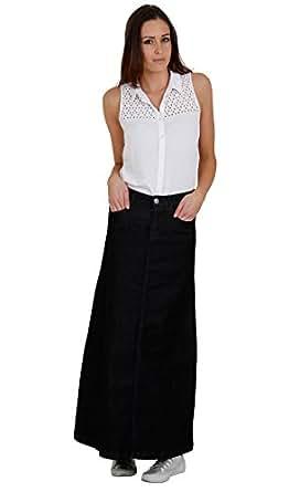 Model Women Leather Full Length Skirt In Black  Leather Skirt