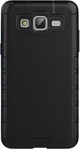 Galaxy On5 Case, TURTLE Hard Dual Layer Bumper Back Case Cover For Samsung Galaxy On5 (Matte Black) - By TURTLE
