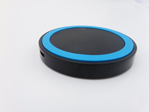 Bluboon(Tm) Super Thin Smart Circle Mini Qi Wireless Charger Charging Mat For Smartphones Like Nexus 5, Lumia 920/928, Sony Xperia Z2, Samsung, Nokia, Google, Lg, Htc And Other Qi-Compliant Devices Qi Enabled (Blue)