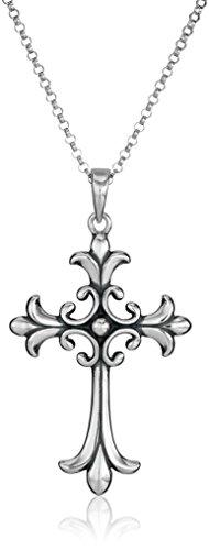 Sterling Silver Celtic Cross Pendant Necklace