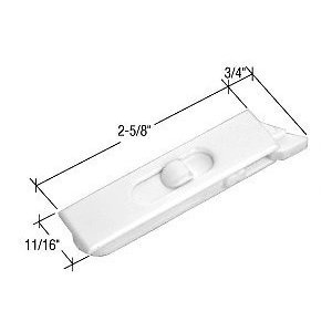 """White 2-5/8"""" Mortised Tilt Latch - Package front-540665"""