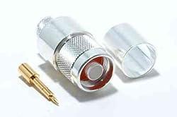 N-Male Crimp LMR-600 Silver