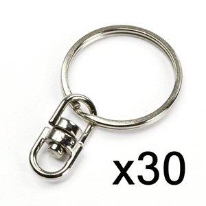 Bluecell 30Pcs 25Mm Split Key Chain Ring W/Double Round Swivel Eye front-1043676