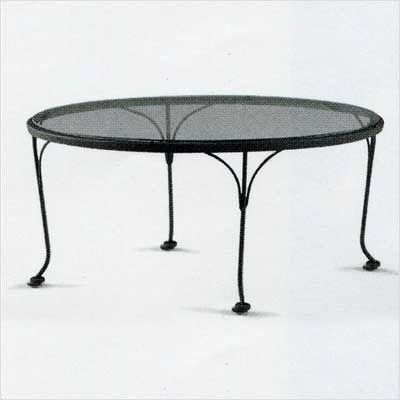 "Occasional 36"" Round Glass Coffee Table Finish: Hammered Pewter, Glass Type: Clear"