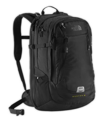 The North Face Tnf Black/Sulphur Spring Green Router Charged Backpack