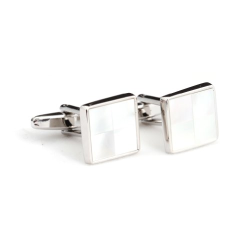 Digabi Men's Jewelry Mother of Pearl Square Cufflink