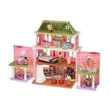 Loving Family Grand Dollhouse Super Set - African American