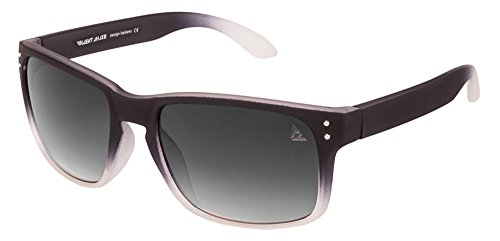 Vincent Chase VC 5204 Matte Black Transparent Grey Gradient C6 Wayfarer Sunglasses (106525)