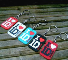 One Direction 1D Keychain / Keyring Party Favors (Lot of 5 pieces) from Made in China