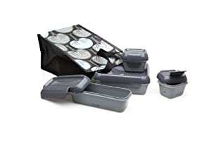 Aladdin Recycled & Recyclable Bento Lunch Set, Chalkboard