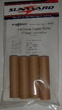 4 Pack BT50 24 mm Model Rocket Engine Tubes 4