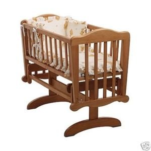 Saplings Glider / Rocker Baby Crib in Antique Plus Mattress