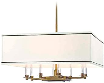 Hudson Valley Lighting 2924 Collins 8 Light Chandelier, Aged Brass