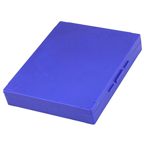 Purple Plastic Shell 100 Slots Rectangular Microscope Glass