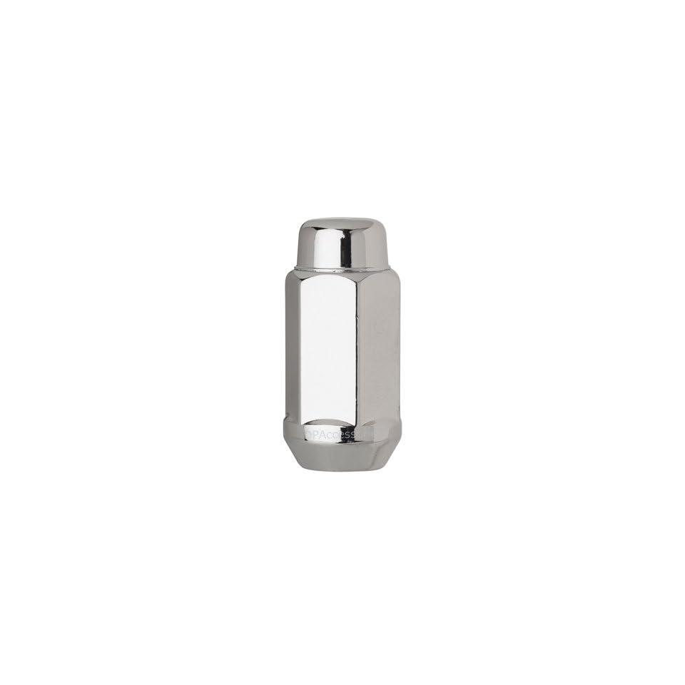 DPAccessories D3418 2305 One (1) Chrome 14x1.5 Closed End XL Bulge Acorn Lug Nut   Cone Seat   21mm Hex Wheel Lug Nut