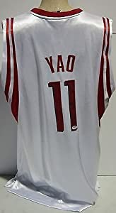 YAO MING SIGNED AUTOGRAPHED HOUSTON ROCKETS JERSEY PSA DNA #U55486