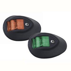 Perko Led Side Lights - Red/Green - 24V - Black Plastic Housing