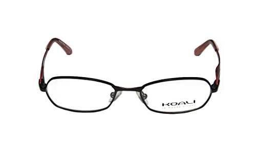 Koali 6724k Womens/Ladies Rxable Popular Style Designer Full-rim Eyeglasses/Eyeglass Frame (47-16-135, Dark Brown / (Green Morph Mask)