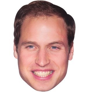 Partyrama Prince William Celebrity Cardboard Mask Single by Mask-arade