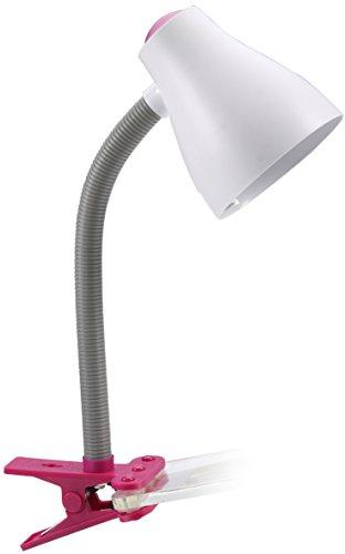 Klemmleuchte, Schreibtischlampe, rosa / weiß 6000.630