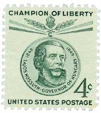 #1117 - 1958 4c Lajos Kossuth Postage Stamp Numbered Plate Block (4)
