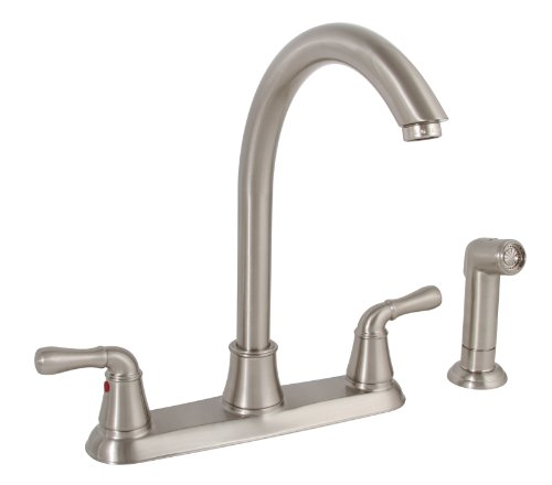 Kingston Brass Gourmetier GS8875CTL Continental Lead Free Single Handle Kitchen Faucet with Pull-Down Sprayer Oil Rubbed Bronze