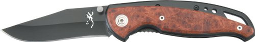 Browning Knives 069 Clip Point Linerlock Knife with Cocobolo Wood Handles