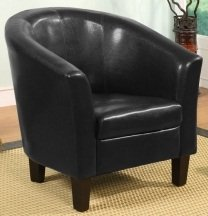 Tub Chair/Seating Black Faux Leather