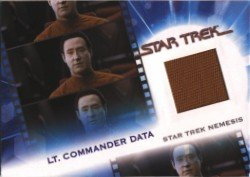 Complete Star Trek Movies MC15 Lt. Commander Data Costume Card #677