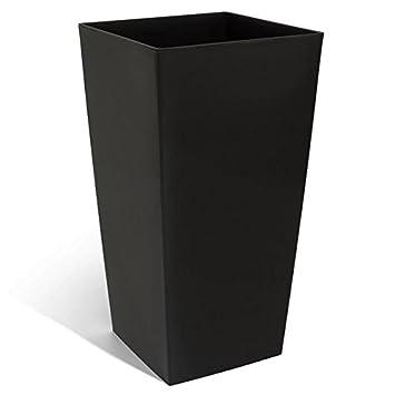 haut pot de fleur urbi 91 5 l bac interieur 42 l hauteur du pot 80 cm carre noir en plastique. Black Bedroom Furniture Sets. Home Design Ideas