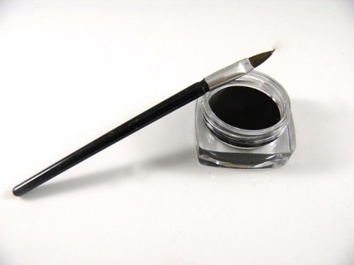 Eye liner resistente all'acqua per make up,cosmetici in gel con pennellino nero
