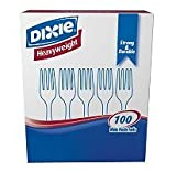 Dixie Products - Dixie - Plastic Tableware, Heavyweight Forks, White, 100/Box - Sold As 1 Box - Strong, shatter-resistant and durable. - Supply guests with a sturdy, heavyweight utensil. - A great addition to culinary gatherings--large and small.