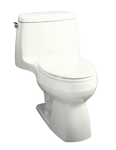KOHLER K-3323-0 Santa Rosa Compact Elongated One-Piece Toilet, White