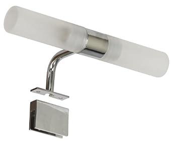Ranex 3000.067 G9 LED Bad Und Spiegelleuchte Aus Verchromten Metall Und  Glas (2x 1,9 Watt), 320 Lumen / 2x 260° Abstrahlwinkel / Warm Weiß