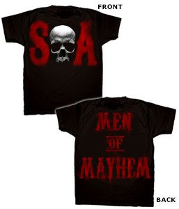 Changes Men's Sons of Anarchy Skull S and A T-Shirt, Black, Small